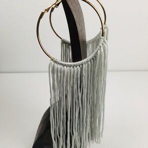 Hoops with dangle tassels